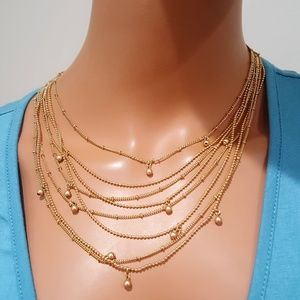 VERA BRADLEY GOLD TONE LAYERED NECKLACE